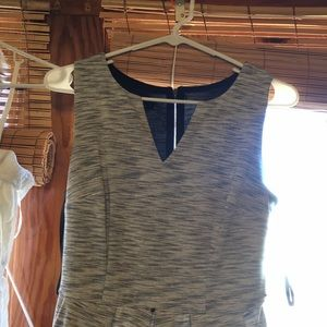 Grey pocketed dress